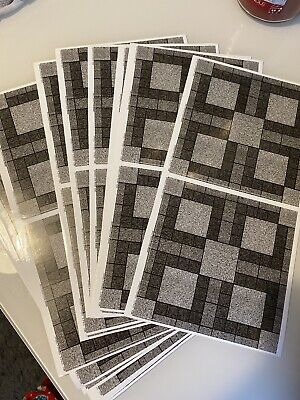 48Pcs Grey Patterned Mosaic Tile Stickers Transfers For 150mm X150mm / 6 X6 Inch • 6.40£