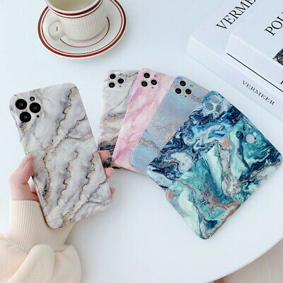 AU5.78 • Buy Marble Case For IPhone 11 Pro Max XS XR X 8 7 Plus Glossy Soft Shockproof Cover
