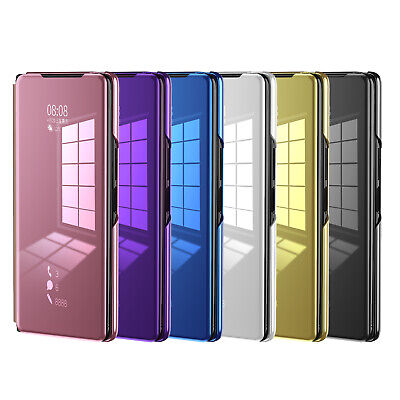 AU18.08 • Buy Electroplating Mirror Flip Case For Samsung Galaxy Z Fold 2 5G Leather Cover