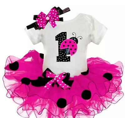 AU34.58 • Buy Baby Girl My First Birthday Outfit Clothing Tutu Dress Cake Smash Photoshoot 3pc