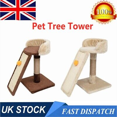 17 Inch Cat Tree Tower  Condo Furniture Scratching Climbing Tower Play House UK • 14.99£