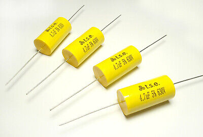 AU6.22 • Buy 4x Capacitor 4.7uF 5% 630V HiFi Audio Polypropylene Axial Valve Metal Film UK