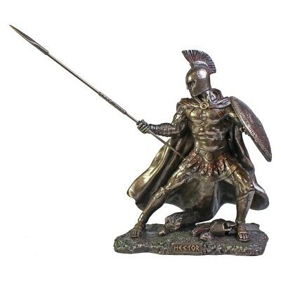 Hector Troy Hero  Cold Cast Bronze Finish Statues Highly Detailed. • 52.50£