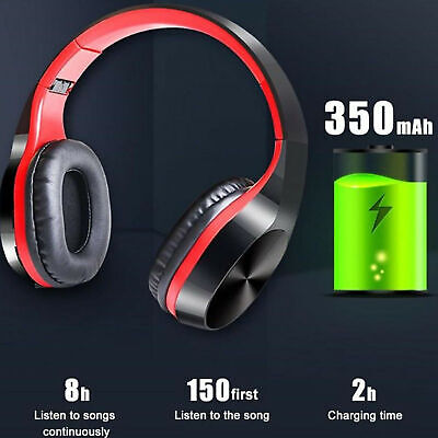 $ CDN18.65 • Buy Wireless Bluetooth Headphones Foldable Stereo Earphones Super Bass Headset Mic