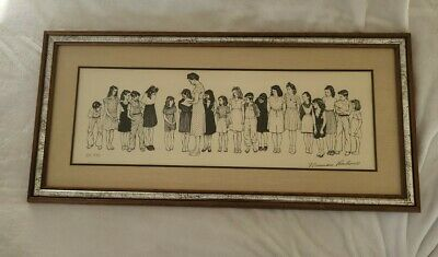 "$ CDN829.34 • Buy Personally Signed Norman Rockwell ""The Spelling Bee"" Teacher Gift AUTHENTIC Art"