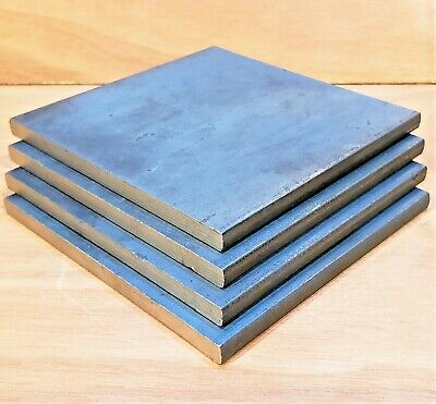 £4.25 • Buy Mild Steel Sheet Metal Plate 3, 5, 6, 8, 10, 12, 15, 20mm Thick 100x100mm Square