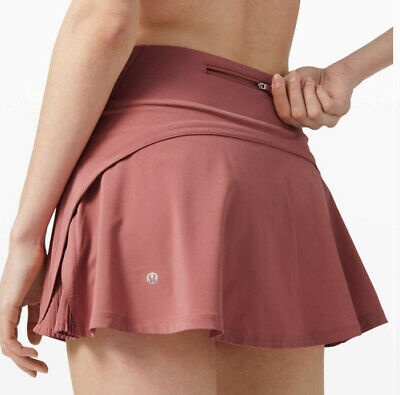 $ CDN86.27 • Buy Lululemon Play Off The Pleats Skirt 13  - Cherry Tint - Size 10 New Tennis