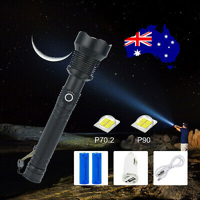 AU11.99 • Buy XHP90 3 Mode Zoom Most Powerful 150000LM Tactical Flashlight LED Hunting Torch