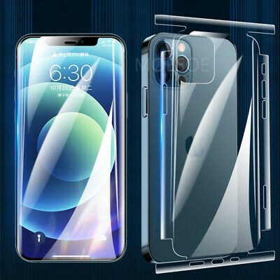 AU3.90 • Buy Hydrogel Full Screen Back Film Protector For IPhone 12 Pro Max 11 XR XS 8 7 Plus