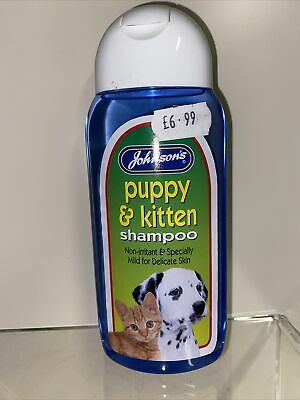 New Johnson's Puppy And Kitten Shampoo Non-Irritant For All Breeds! - 200ml • 6.50£