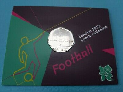 Olympic Football Offside Rule BU Sealed Card 50p Fifty Pence  • 16.93£