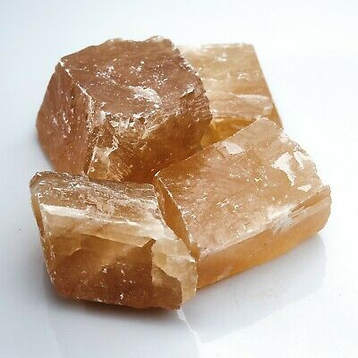 Rough Honey Calcite Mineral Raw Natural Healing Stone Chakra Reiki Gift X 250g • 14.99£