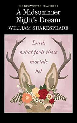 A Midsummer Nights Dream : Wordsworth By William Shakespeare New Paperback Book • 3.92£
