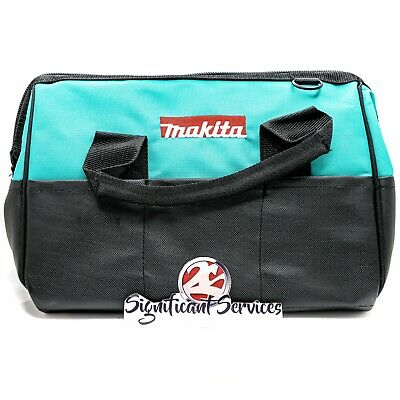 "MAKITA Contractor Tool Bag Storage Case Outside Pockets 14"" X 11"" X 9"" Strap • 12.46£"
