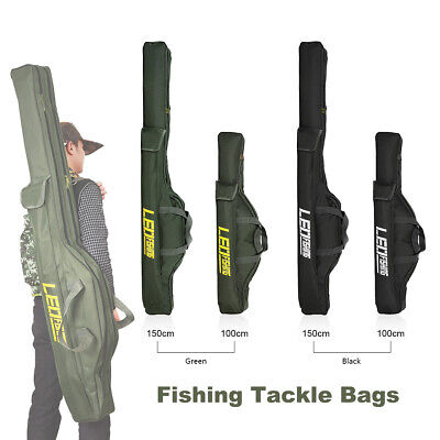 AU29.99 • Buy Foldable Fishing Rod Shoulder Bag Sea Fishing Pole Carrier Tackle Storage Pouch