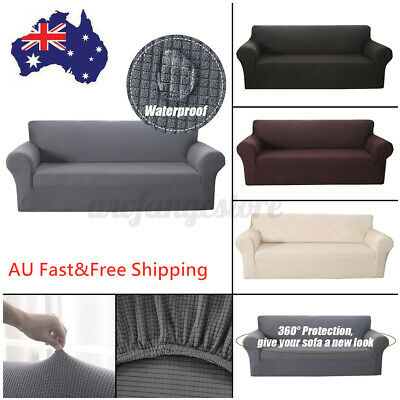 AU35.32 • Buy 1 2 3 4 Seater Stretch Sofa Covers Couch Lounge Recliners Slipcover Protector AU