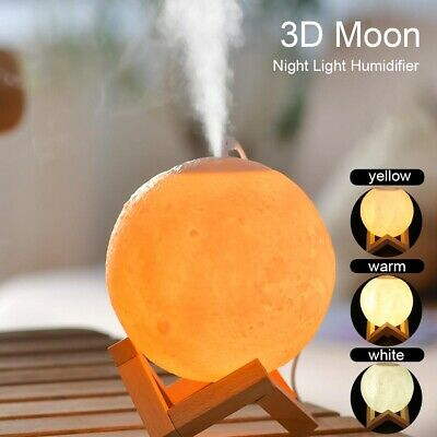 AU11.15 • Buy Air Humidifier 3D Moon Lamp Night Light Aroma Diffuser USB Home Purifier 880ml