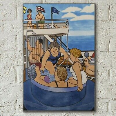 £30.95 • Buy Cruising Ceramic Picture Tile By Beryl Cook 8  X 12  Wall Art Kitchen Gift 05869