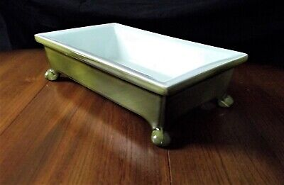 Vintage Beswick Green Shallow Footed Dish No.2163 Excellent • 20£