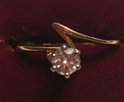 18ct GOLD DIAMOND SOLITAIRE RING 750 ENGAGEMENT 1/4 CARAT STONE SIZE J1/2 • 265£