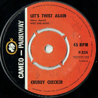 Chubby Checker - Lets Twist Again / The Twist 7  UK 1st Press Single,1962 Vinyl • 5.99£