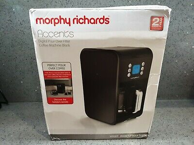 Morphy Richards Accents 162008 Pour Over Filter Coffee Machine - 900W, Black • 34.99£