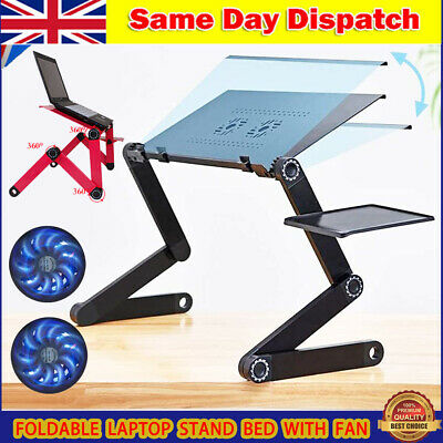 Adjustable Portable Laptop Stand Lazy Lap Sofa Bed PC Notebook Desk Table Tray ~ • 16.78£