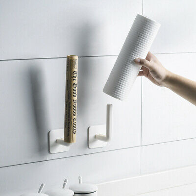 AU10.99 • Buy 2PCS New Kitchen Lid Toilet Paper Tissue Towel Holder Hanger Rack Roll Adhesive