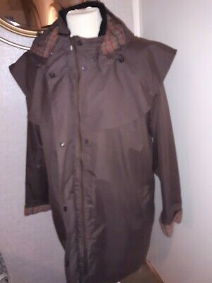 Arctic Storm Wind Proof  Brown Coat Size Large Lenght 35ins • 7£