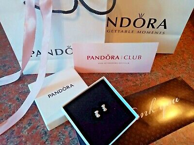 Pandora -  Studs - Earrings Never Worn   AUTHENTIC  BOX AND BAG  925 Silver  • 10.95£