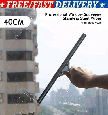 Glass Window Cleaning Squeegee Blade Replaceable Cleaner Home Shower Bathroom • 8.93£