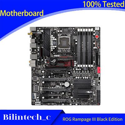 $ CDN817.73 • Buy FOR ASUS ROG Rampage III Black Edition X58 Motherboard Support LGA1366 24G DDR3