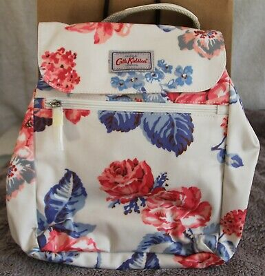 Cath Kidston 'Porchester Rose' Handbag Backpack In Stone Oilcloth BNWT • 40£