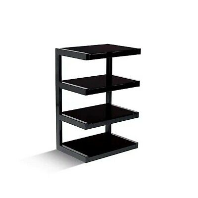 Norstone ESSE HiFi Rack / Stand/ AV Furniture In Black With 4 Shelves • 199£