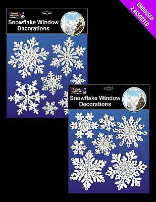 £3.99 • Buy 2 Sheets SNOWFLAKE / CHRISTMAS STICKERS Window Glass - CRAFTS / CARDMAKING