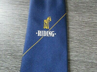 £9.99 • Buy Riding With Shire Horse Motif Mansfield Brewery Interest Tie By William Turner