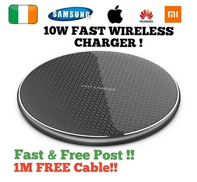 $ CDN13.22 • Buy Wireless Charger Charging Pad Dock Fast Quick Iphone 12 11 X XR 8 Huawei Samsung