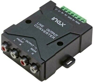 Inex 4 Channel RCA Line Input Output High To Low Level Converter Adaptor  • 13.99£