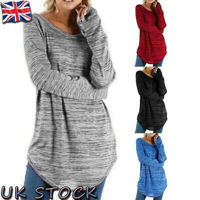 Womens Long Sleeve Baggy T-Shirt Ladies Loose Blouse Tops Tunic Casual Plus Size • 7.89£