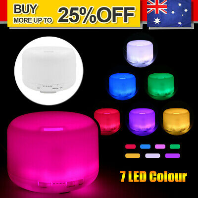 AU4.99 • Buy 500ml Essential Air Mist Oil Aroma Diffuser Ultrasonic Humidifier Aromatherapy
