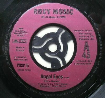 £7.99 • Buy Roxy Music - Angel Eyes, 7  Single, Rare French Press, In Excellent Cond,1979