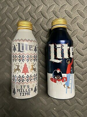 $4.99 • Buy Miller Lite 2019 And 2020 Christmas Limited Edition Aluminum Beer Bottle