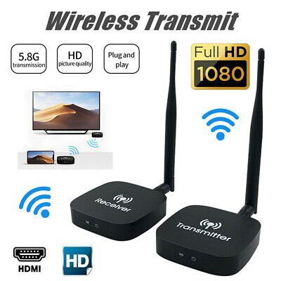 £79.99 • Buy Wireless HDMI Transmitter Receiver WIFI For HD1080P Video TV Projector Streaming