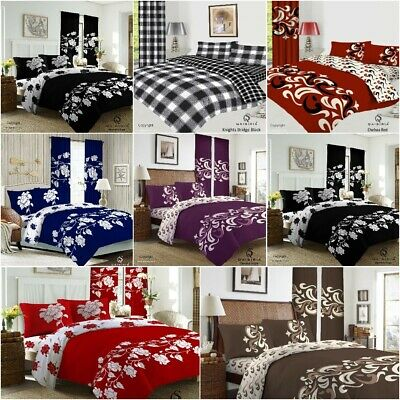 £23.99 • Buy 4Pcs Bedding Set Duvet Cover With Matching Fitted Sheet & Pillow Cases UK Sizes