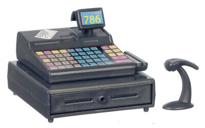 £7.09 • Buy Cash Register With Scanner, Dolls House Miniature, Shop Accessory