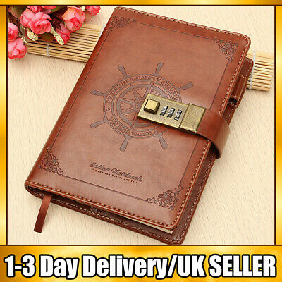 £14.89 • Buy Diary Lockable Notebook B6 Vintage PU Leather Note Book Journal Stationery Gift