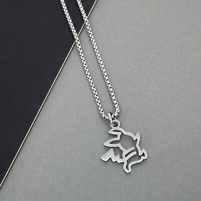 Silver Pokemon Pikachu Chain Necklace With Pendant | Made From Stainless Steel • 16.99£