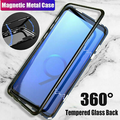 $ CDN9.66 • Buy For Samsung Galaxy S9 S8 S7 Plus Magnetic Adsorption Tempered Glass Case Cover