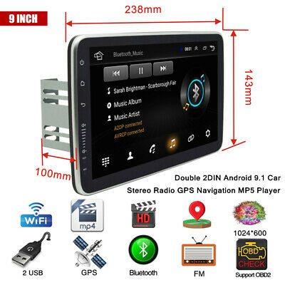 $197.19 • Buy 9 Screen Android 9.1 Double 2DIN Car Stereo Radio GPS Navigation MP5 Player WiFi