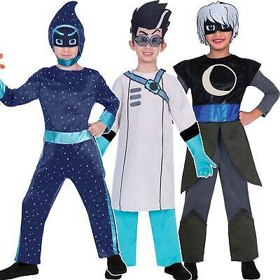 Childs PJ Masks Costume Fancy Dress Superhero Villains Book Week Boys Girls Kids • 16.99£